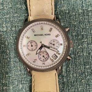 Michael KORS stainless steel watch with diamonds